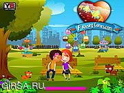 Флеш игра онлайн Sam Kissing 4 Park Kissing