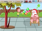 Флеш игра онлайн Санта и непослушный мальчик / Santa And The Naughty Boy