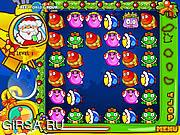 Флеш игра онлайн Santa blob