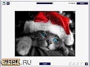 Игра Santa Cat Puzzle