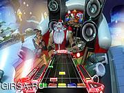 Флеш игра онлайн Santa Rockstar HD