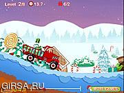 Флеш игра онлайн Грузовик Санты / Santa's Delivery Truck