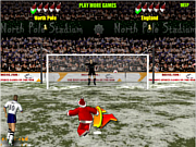 Флеш игра онлайн Santa's penalty kick world cup