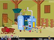 Флеш игра онлайн Фабрика Игрушек Санта Побег