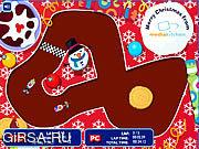 Флеш игра онлайн Санта-Гонщиков / Santa Racers
