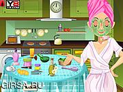 Флеш игра онлайн Макияж для Сары / Sara Makeover