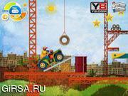 Флеш игра онлайн Гонка по лесу / Scaffolding Race
