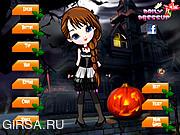 Флеш игра онлайн Вечеринка в стиле Хэллуина / Scary Cute Girl Dress Up
