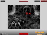 Флеш игра онлайн Страшно Зомби Головоломки / Scary Zombie Puzzle
