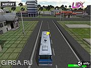 Флеш игра онлайн Школьный автобус парковка 3D