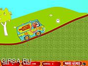 Флеш игра онлайн Скуби Ду едет на машине 2