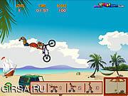 Флеш игра онлайн Пляж BMX Scooby Doo / Scooby Doo Beach BMX