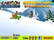 Флеш игра онлайн Скуби Ду - спортсмен / Scooby Doo Snowboarding