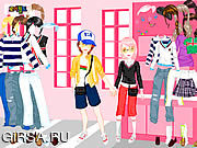 Флеш игра онлайн Ходить по магазинам в влюбленности одевает вверх / Shopping In Love Dress Up