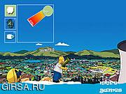 Флеш игра онлайн Simpson Battle