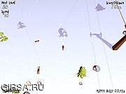 Флеш игра онлайн Лыжное Веселье