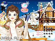 Флеш игра онлайн Девушка лыжи составляет / Ski Girl Make Up