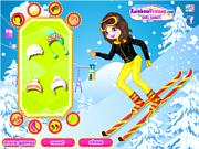 Флеш игра онлайн Зимний наряд / Skiing Beauty