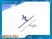 Флеш игра онлайн Лыжный Трамплин