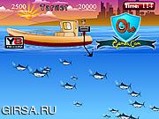 Флеш игра онлайн Sleeping Fish Hunt