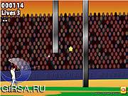 Флеш игра онлайн Сильный отбивающий! Бейсбол / Slugger! Baseball