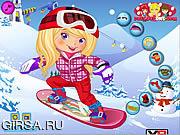 Флеш игра онлайн Девушка Сноубордистка Одеваются / Snowboarder Girl Dress Up