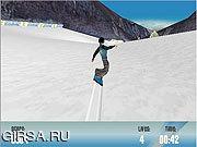 Флеш игра онлайн Снег сноуборд хз
