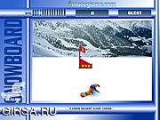 Флеш игра онлайн Слалом на сноуборде / Snowboard Slalom