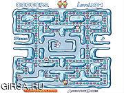 Флеш игра онлайн Лабиринт снежка