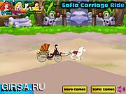 Флеш игра онлайн Увлекательная гонка с Софией / Sofia Carriage Ride