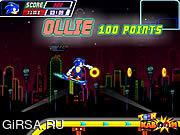 Флеш игра онлайн Соник на скейте