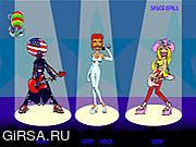 Флеш игра онлайн Космические Девушки Поют / Space Girls Singing