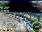 Флеш игра онлайн Spaceship Racing 3D