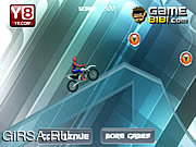 Флеш игра онлайн Первое приключение велосипеде паука Ice велосипед / Spiderman Ice Bike