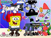 Флеш игра онлайн Необычные наряды для Губки Боба