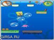 Флеш игра онлайн Spongebob adventure under sea