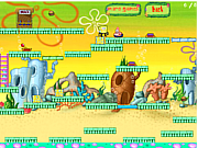 Флеш игра онлайн Губка Боб и Патрик в поисках бургеров / SpongeBob And Patrick Escape v1