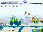 Флеш игра онлайн Спанч Боб - Сумасшедший Запуск / SpongeBob Crazy Run