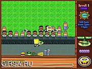 Флеш игра онлайн Губка Боб. Ресторан фастфуда / SpongeBob Fastfood Restaurant