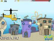 Флеш игра онлайн Spongebob Helicopter