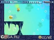 Флеш игра онлайн Спанч Боб ест гамбургер / SpongeBob is eating hamburger y8