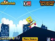 Флеш игра онлайн Spongebob Skateboard