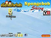 Флеш игра онлайн Губка Боб на лыжах