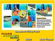 Флеш игра онлайн Спанч Боб Пазлы / Spongebob Sliding Puzzle