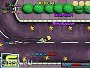 Флеш игра онлайн Spongebob Speed Car Racing 2