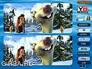Флеш игра онлайн Spot 6 Diff - Ice Age 4
