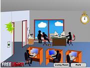 Флеш игра онлайн Убей Стикмана в офисе / Stickman Death Office