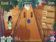 Флеш игра онлайн Ститч играет в боулинг