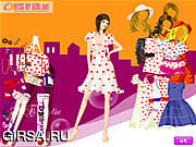 Флеш игра онлайн Stylish Dot Dresses
