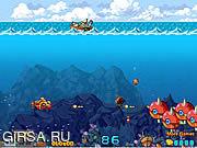 Флеш игра онлайн Подводная битва